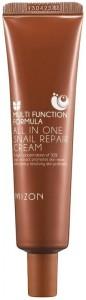MIZON Daugiafunkcinis veido kremas All in One Snail Repair Cream su juodųjų sraigių ekstraktu, 35 ml