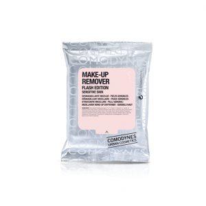 COMODYNES Makiažo valymo servetėlės su miceliniu vandeniu jautriai odai Flash edition, 10 vnt.