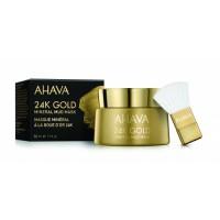 AHAVA 24k aukso mineralinė purvo kaukė veidui