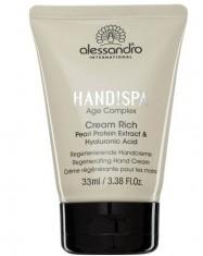 ALESSANDRO Cream Rich - Intensyviai drėkinamasis rankų kremas su hialurono rūgštimi, 30ml