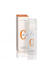ANNA LOTAN C-WHITE naktinis veido kremas su vitaminu C
