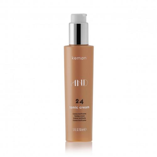 KEMON AND 24 Tonic Cream - Elastingumo suteikiantis plaukų formavimo kremas