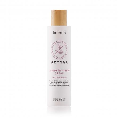 KEMON Actyva Colore Brillante Cream Color Protection - Apsaugantis ir žvilgesio suteikiantis plaukų kremas