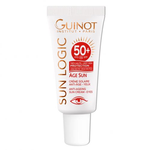 GUINOT Age Sun Anti-Age Eye Cream - Priešraukšlinis kremas nuo saulės akių sričiai SPF50+