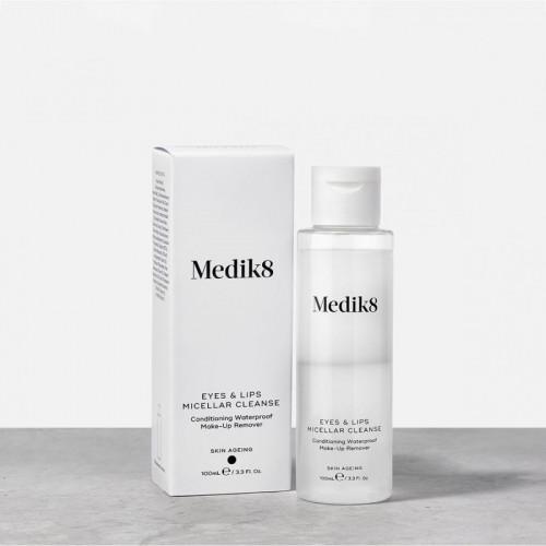 MEDIK8 Eyes & Lips Micellar Cleanse - Vandeniui atsparaus makiažo valiklis