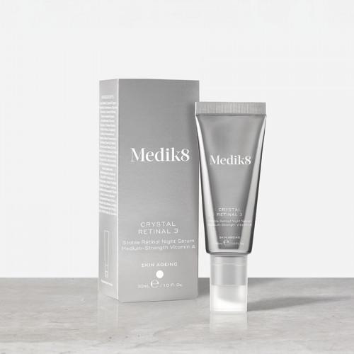 MEDIK8 Crystal Retinal 3 - Stabilus retinalio 0,03% veido serumas nakčiai