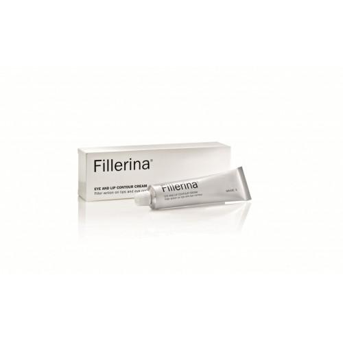 FILLERINA® paakių ir lūpų kremas su 6 hialurono rūgštimis ir peptidais