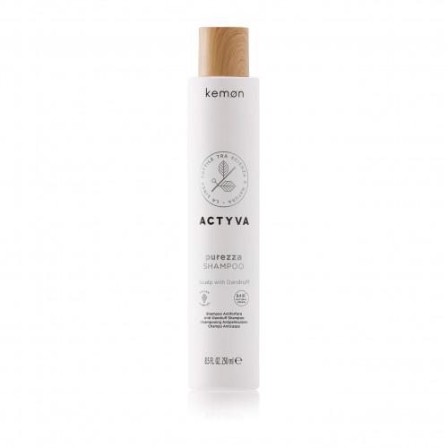 KEMON ACTYVA Purezza  Shampoo SN Velian - Pleiskanotos galvos odos šampūnas