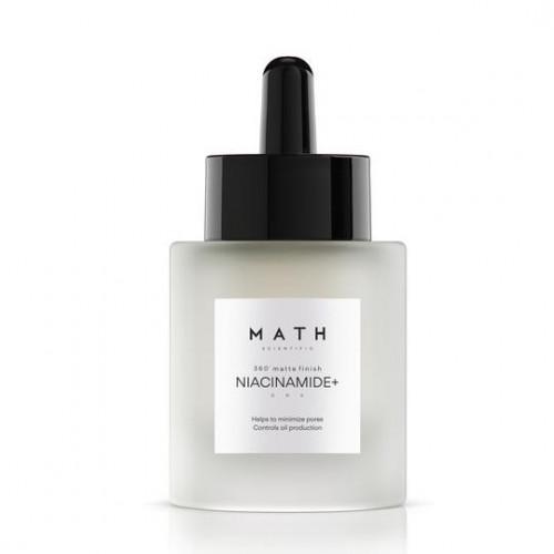 """MATH koncentruotas veido serumas porų ir riebaluotumo mažinimui """"NIACINAMIDE+"""""""