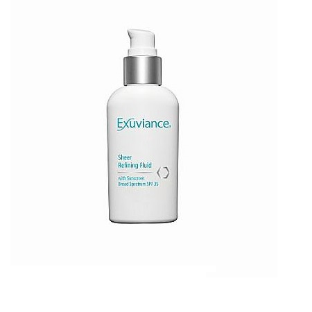 Exuviance Sheer Refining dieninė emulsija riebiai odai SPF35, Sheer Refining Fluid
