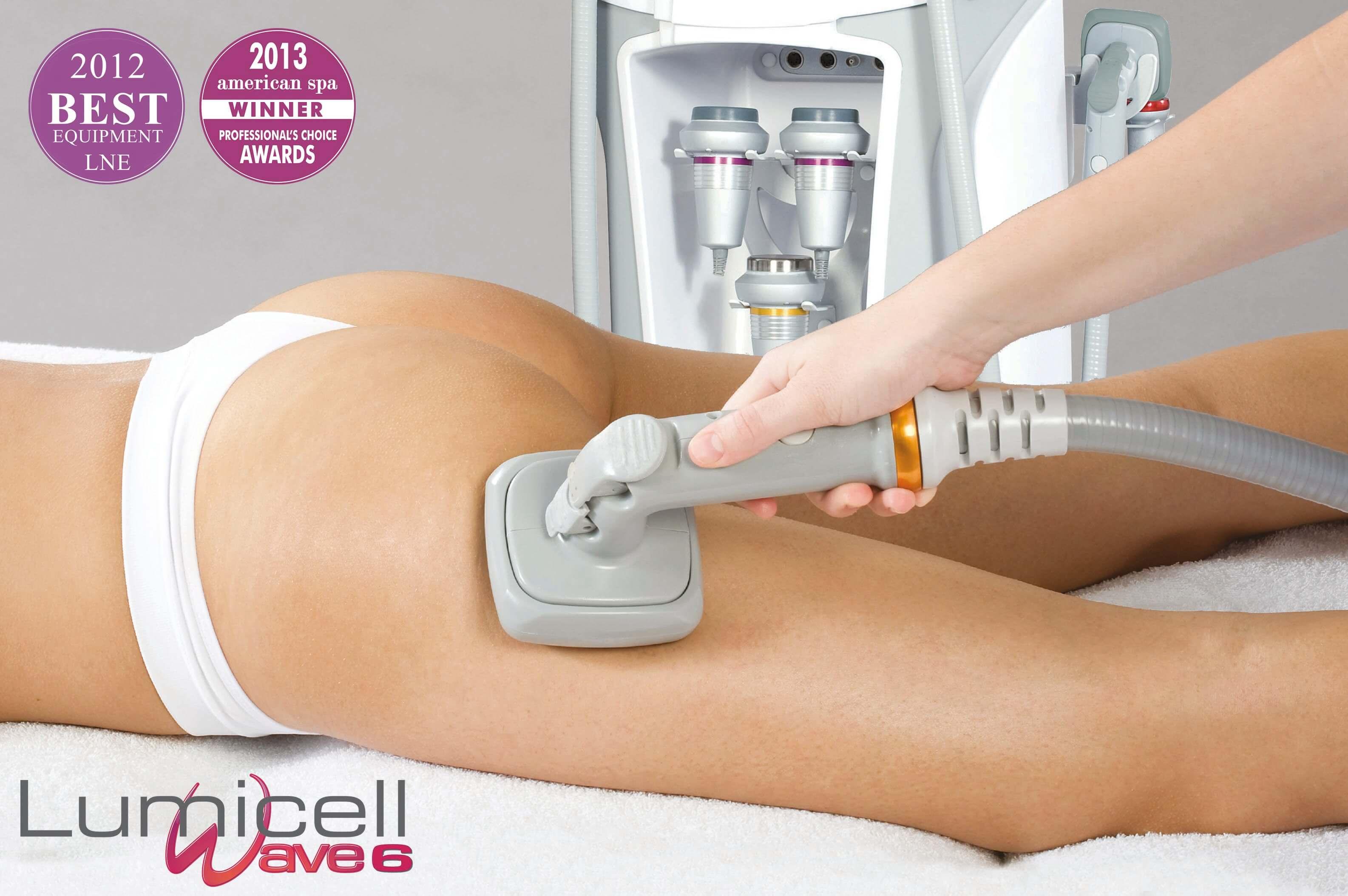 Lumicell Wave 6 - naujausios technologijos celiulito mažinimui ir kūno modeliavimui klinikoje SUGIHARA