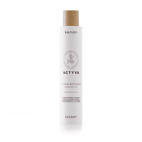 KEMON ACTYVA COLOR BRILLANTE Apsaugantis ir žvilgesio suteikiantis šampūnas