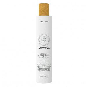KEMON ACTYVA VOLUME E CORPOSITA Tvirtumo ir apimties suteikiantis plaukų šampūnas