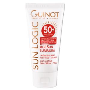 GUINOT Age Sun priešraukšlinis kremas nuo saulės veidui SPF50