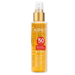 GUINOT Age Sun priešraukšlinis aliejus nuo saulės kūnui SPF50