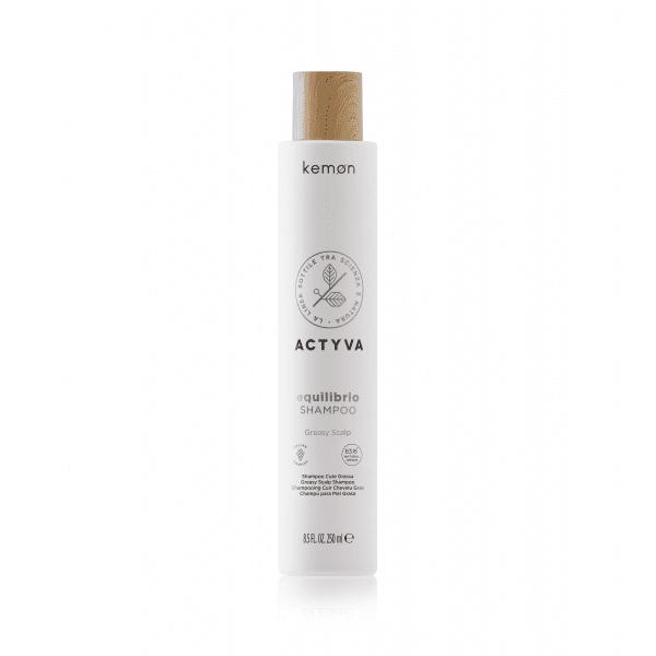 KEMON ACTYVA EQUILIBRIO Riebaluotis linkusių plaukų ir galvos odos šampūnas
