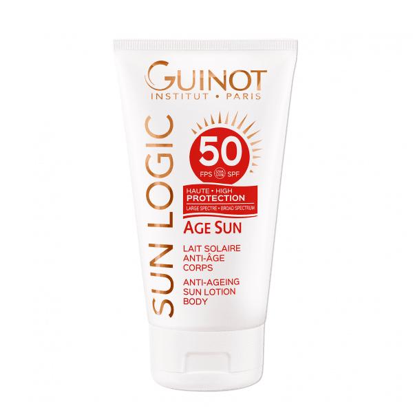 GUINOT Age Sun priešraukšlinis losjonas nuo saulės kūnui SPF 50